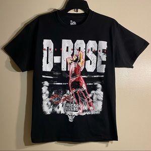 Majestic Shirts - 🏀Very Rare Derrick Rose Chicago Bulls Tee🏀